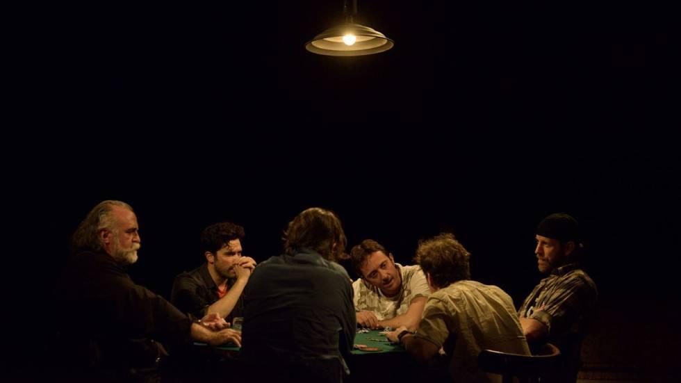 "Escena de la obra de teatro ""La partida"", de Patrick Marber."