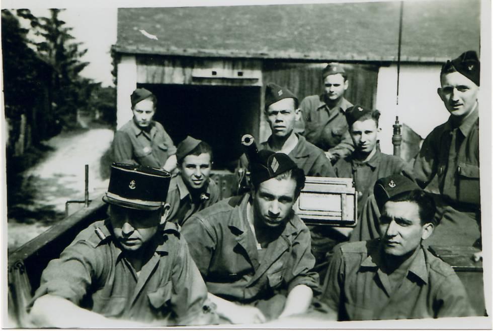 Combatientes de La Nueve, compañía de la División Leclerc formada mayoritariamente por combatientes de la Guerra Civil Española.