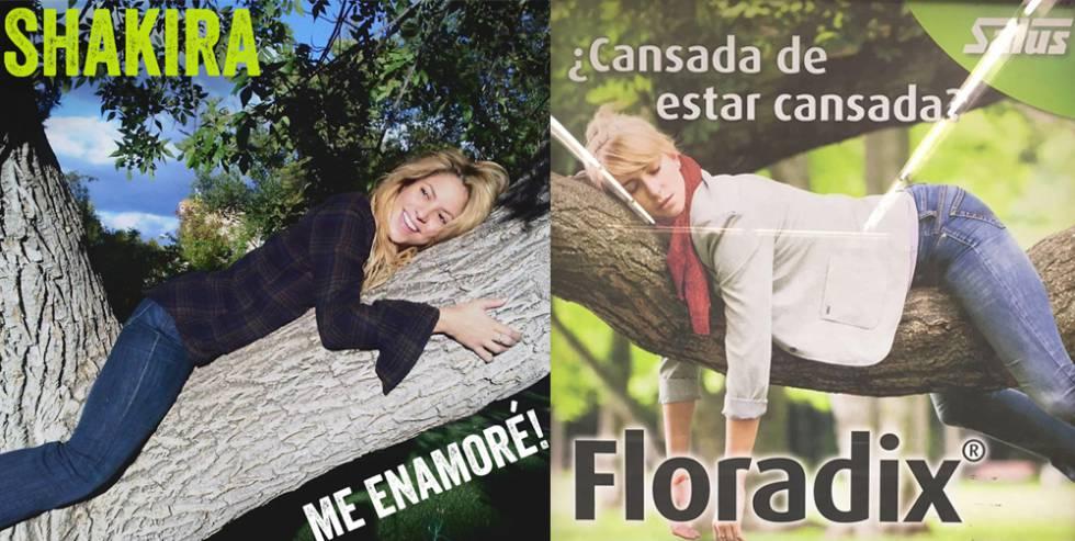 La portada de Shakira guarda un gran parecido con este anuncio del medicamento Floradix