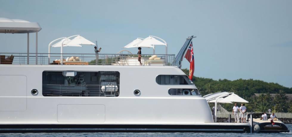 Barack Obama y Michelle, en la Polinesia francesa.