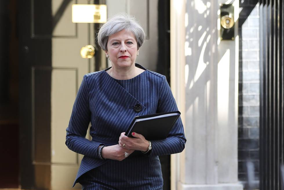 Theresa May, tras anunciar la convocatoria de elecciones.