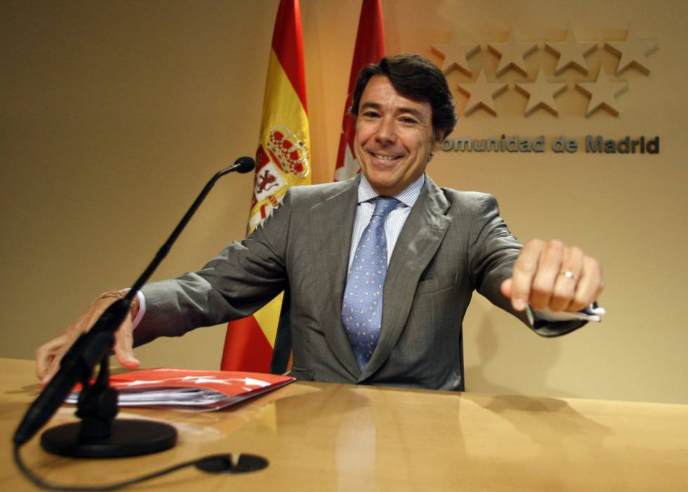 Former Madrid premier Ignacio González in a file photo.