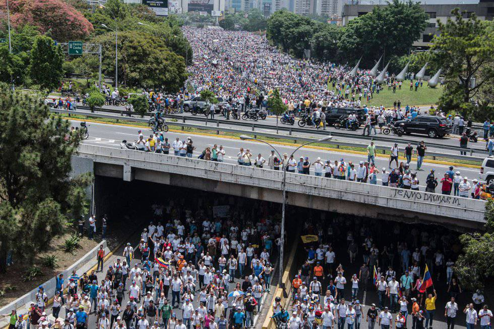 Opponents of President Nicolas Maduro in Caracas on Wednesday.