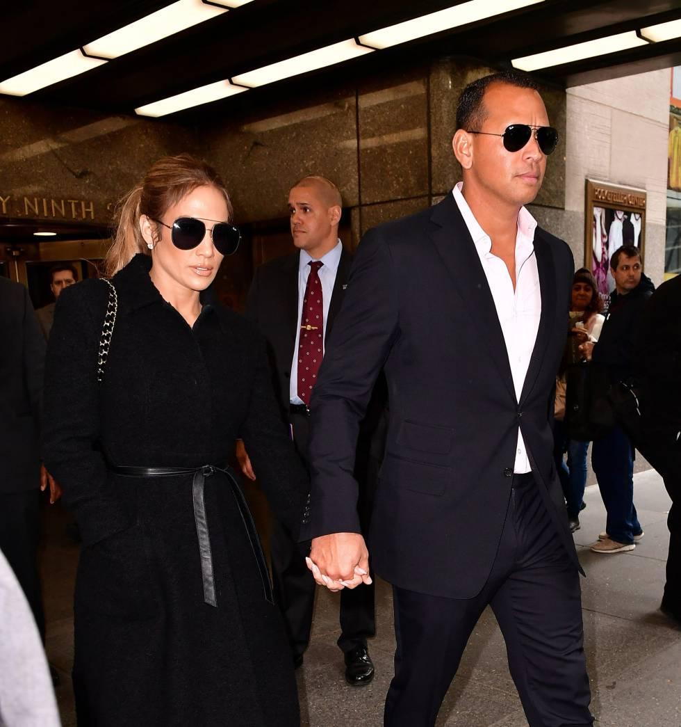 Jennifer Lopez y Alex Rodriguez en Nueva York, el 24 de abril.
