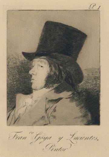 En 'Los caprichos', Goya quiso mostrar los defectos de la condición humana. Empezó por sí mismo en este autorretrato vestido de caballero.
