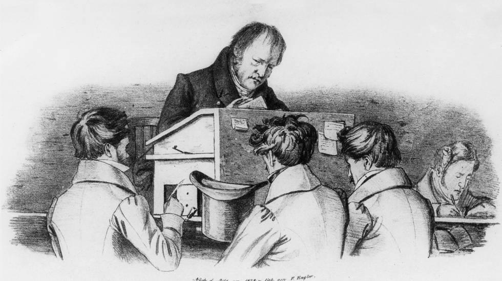 El filósofo Hegel.rn