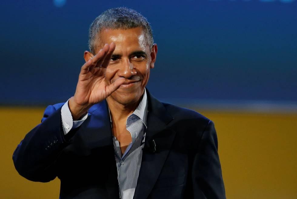 El expresidente norteamericano durante su intervención en la cumbre internacional sobre innovación alimentaria celebrada en Milán.