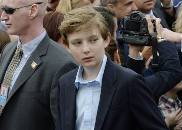 Barron Trump, de 11 años, hijo del presidente de EE UU.