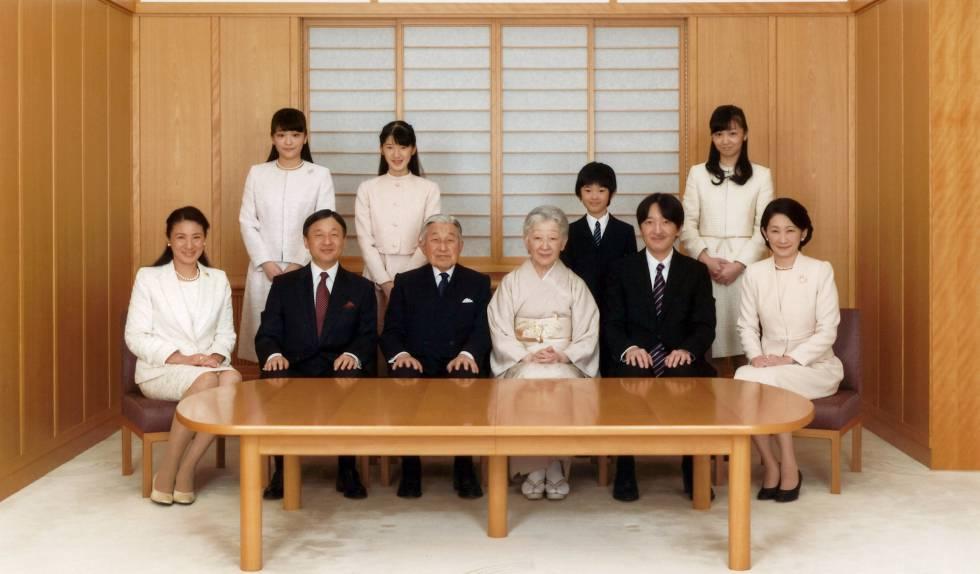 La familia imperial de Japón, en una imagen de 2016.