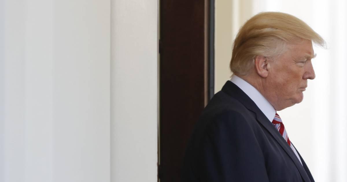 Donald Trump, hoy en la Casa Blanca.