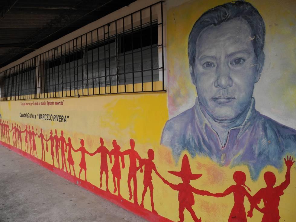 Mural en San Isidro Cabañas en homenaje a Marcelo Rivera, defensor del medio ambiente.