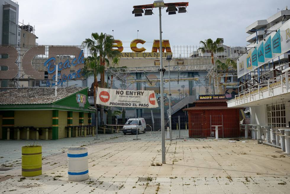 Cursach's crowning glory, the BCM nightclub in Magaluf, which has recently been closed down.