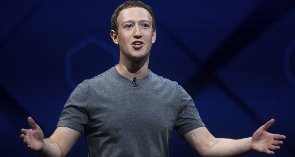 El CEO de Facebook Mark Zuckerberg, en California.