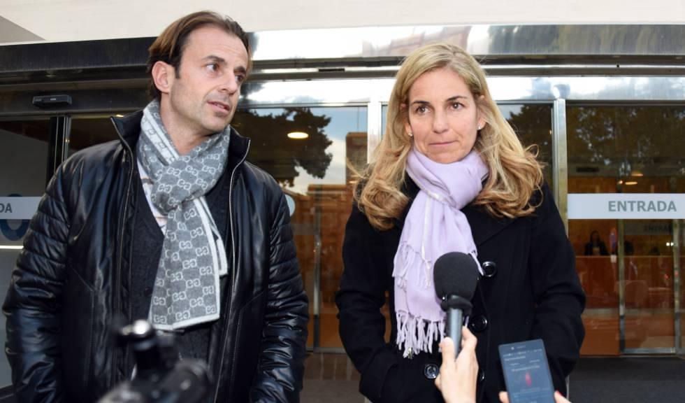Arantxa Sánchez Vicario y su marido, Josep Santacana, en una imagen de febrero de 2016.