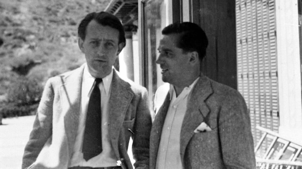 André Malraux (a la izquierda) junto a Jaume Miravitlles. rn