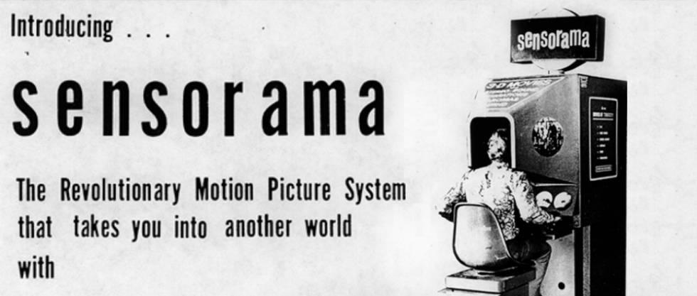 Así se presentaba en los 60 el Sensorama de Morton Heilig, precursor de la realidad virtual.
