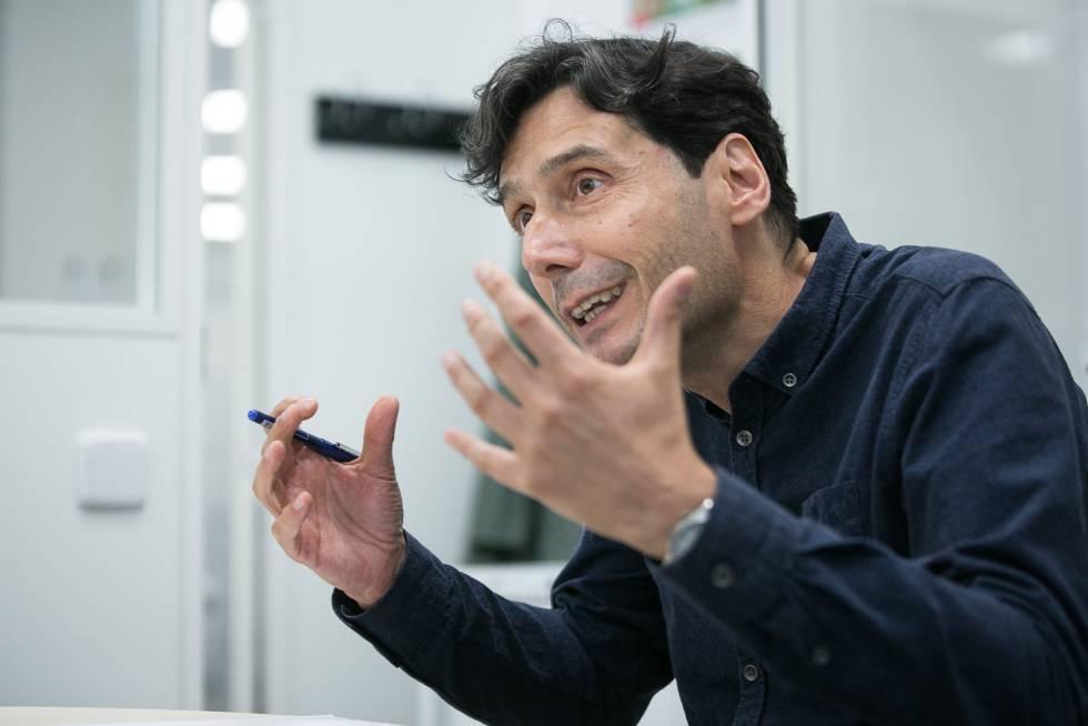 Manuel Serrano, durante la entrevista.