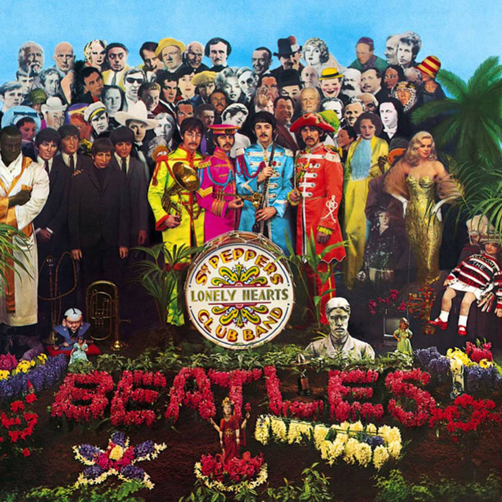 "Portada del disco ""Sgt Pepper's"" de The Beatles."