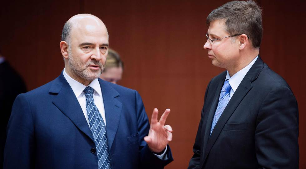 Pierre Moscovici y Valdis Dombrovskis