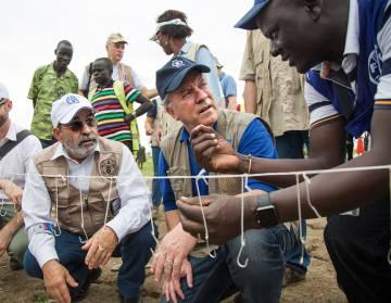 Graziano (izquierda) y Beasley, en Ganyiel (Sudán del Sur).