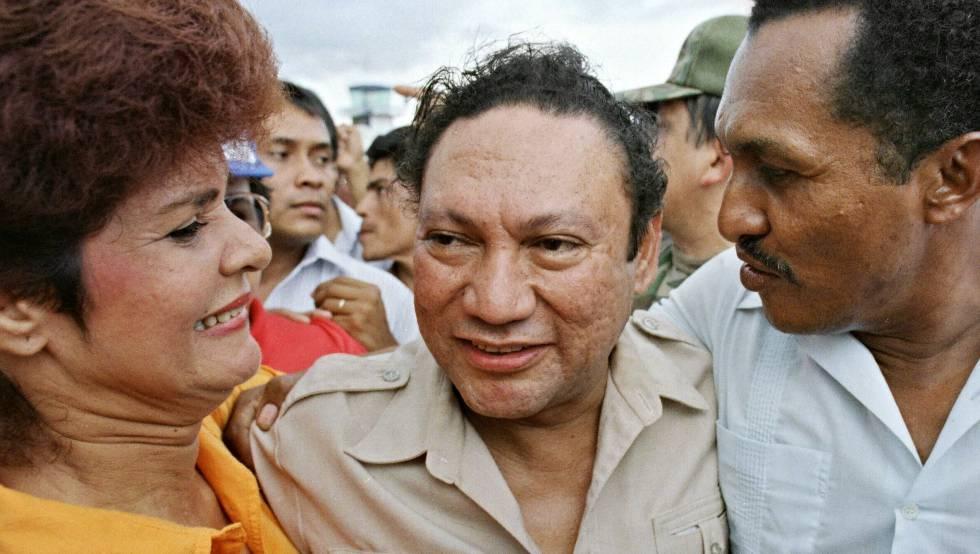 Manuel Antonio Noriega en junio de 1987.