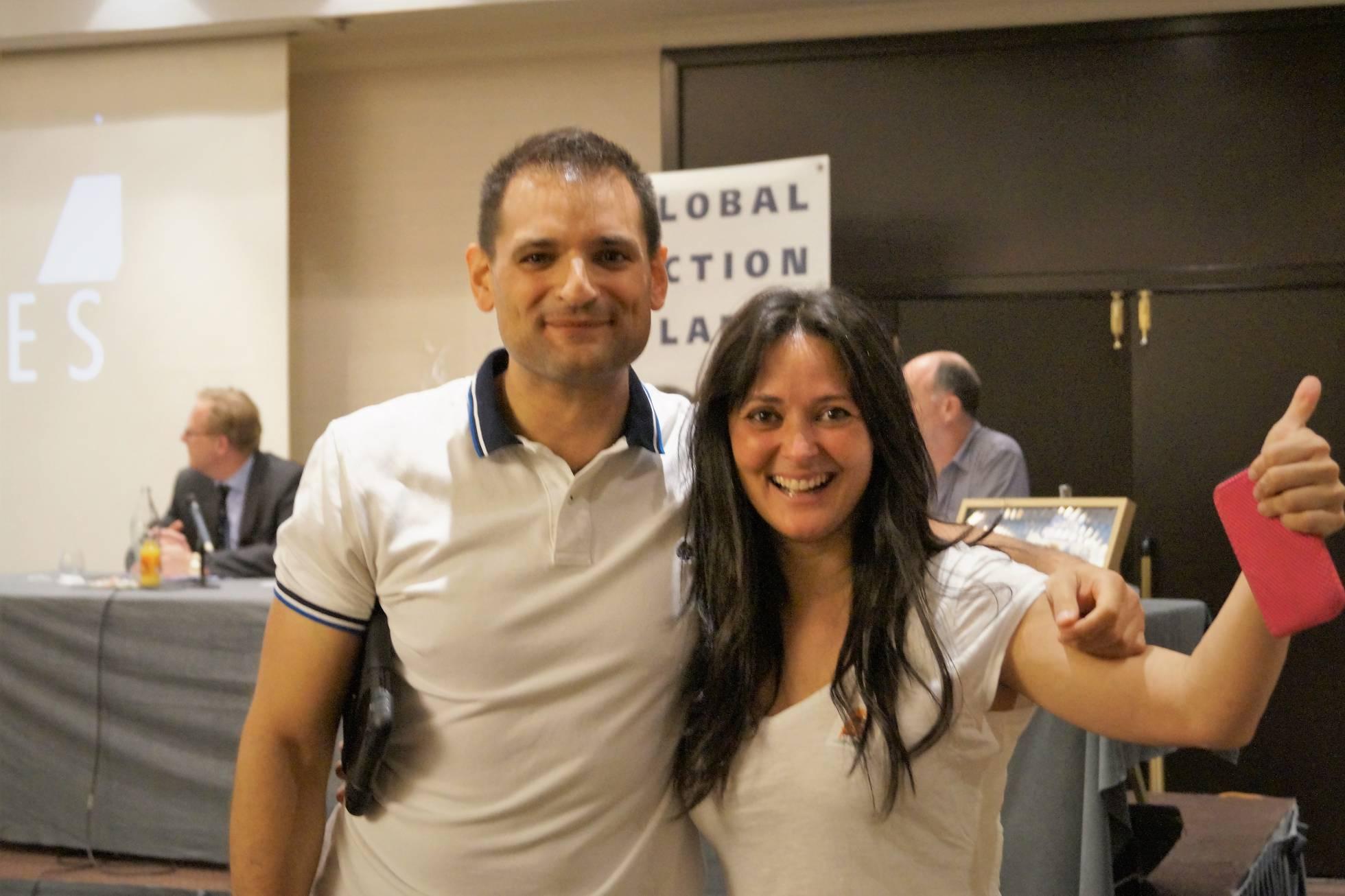 José Alberto y Esther Diánez en la Final del Programa' Watter Explorer'. Esther Diánez