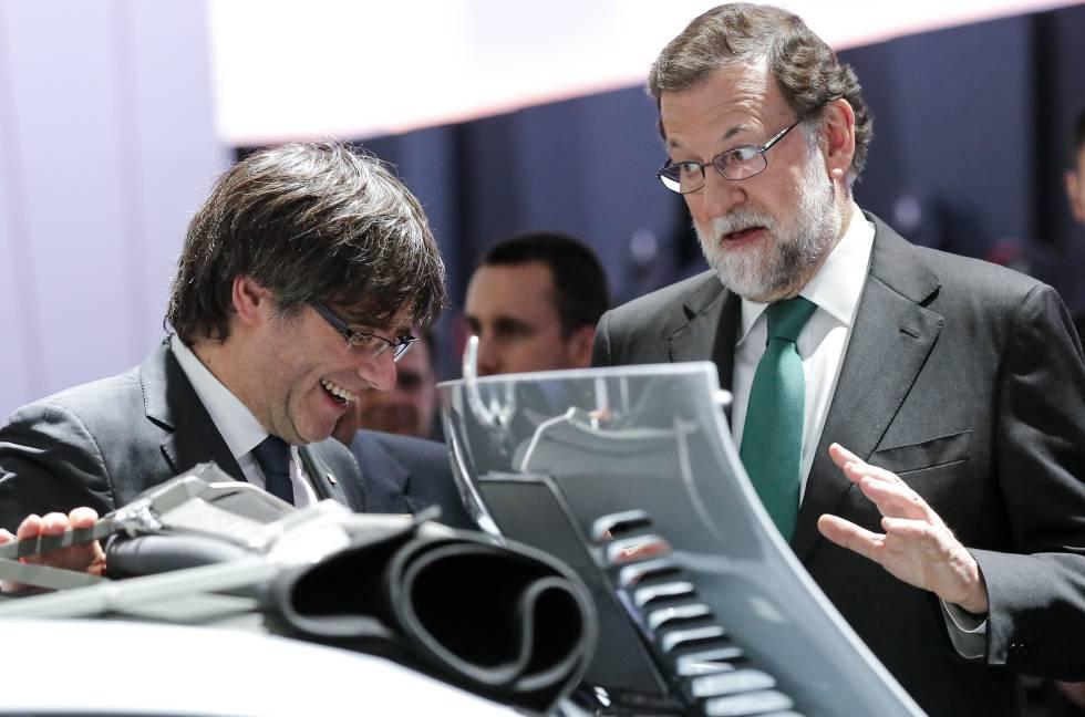 El presidente del Gobierno, Mariano Rajoy y Carles Puigdemont, presidente de la Generalitat.rn rn rn