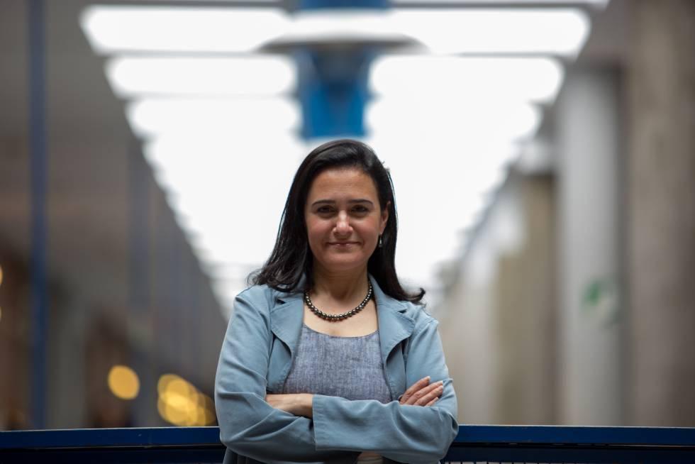 Linda Amaral, después de la entrevista