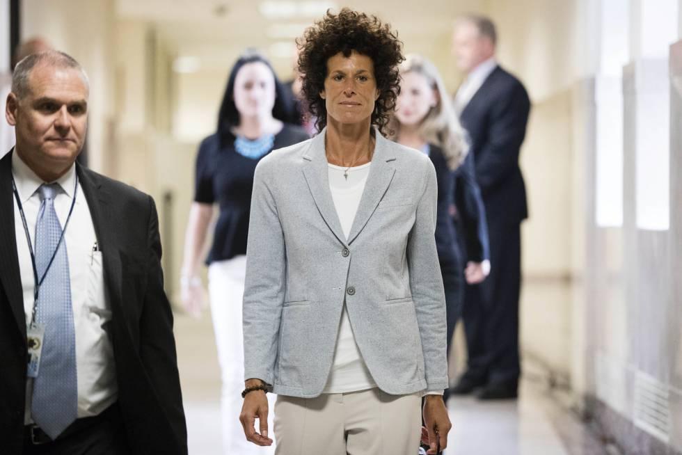 Andrea Constand, el pasado 6 de junio en los juzgados de Norristown.