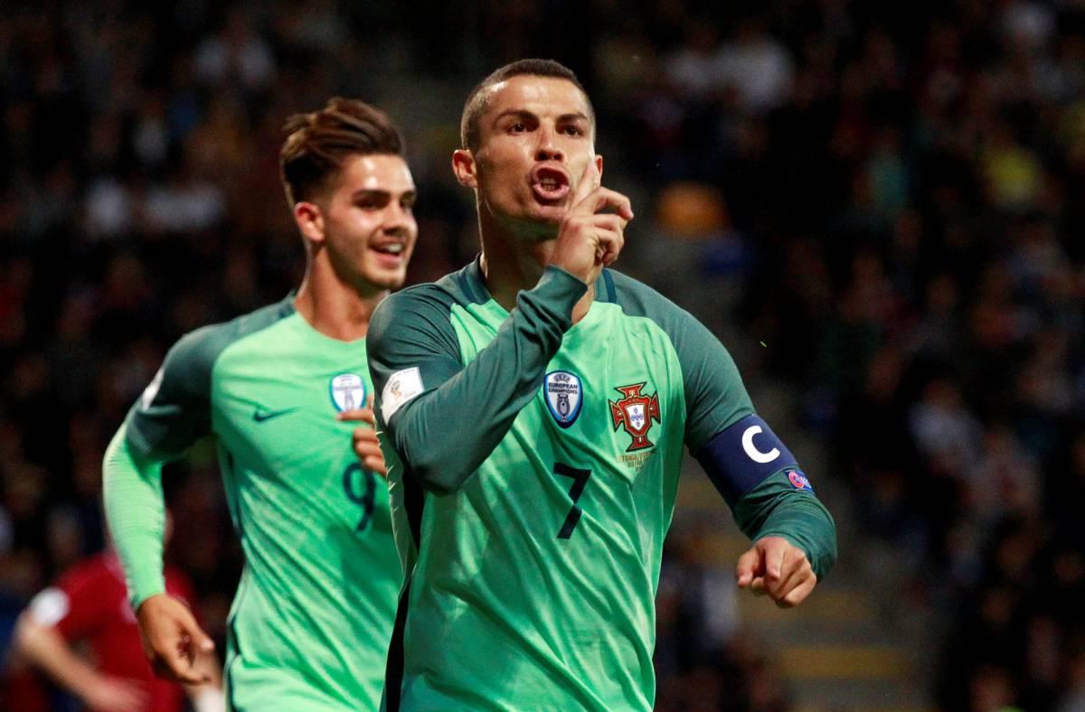 Cristiano Ronaldo con la selección de Portugal.
