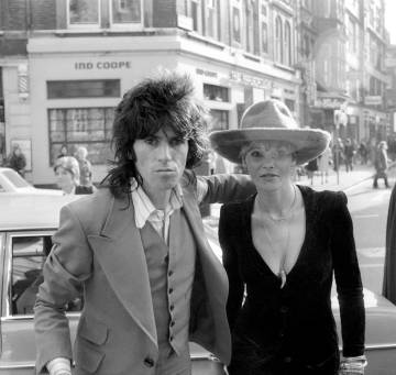 Keith Richard y Anita Pallenberg en 1973.