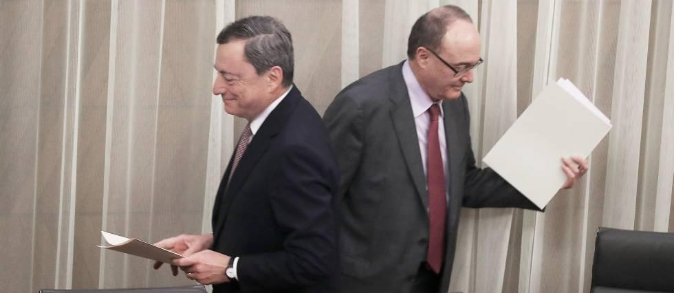 Mario Draghi y Luis Linde