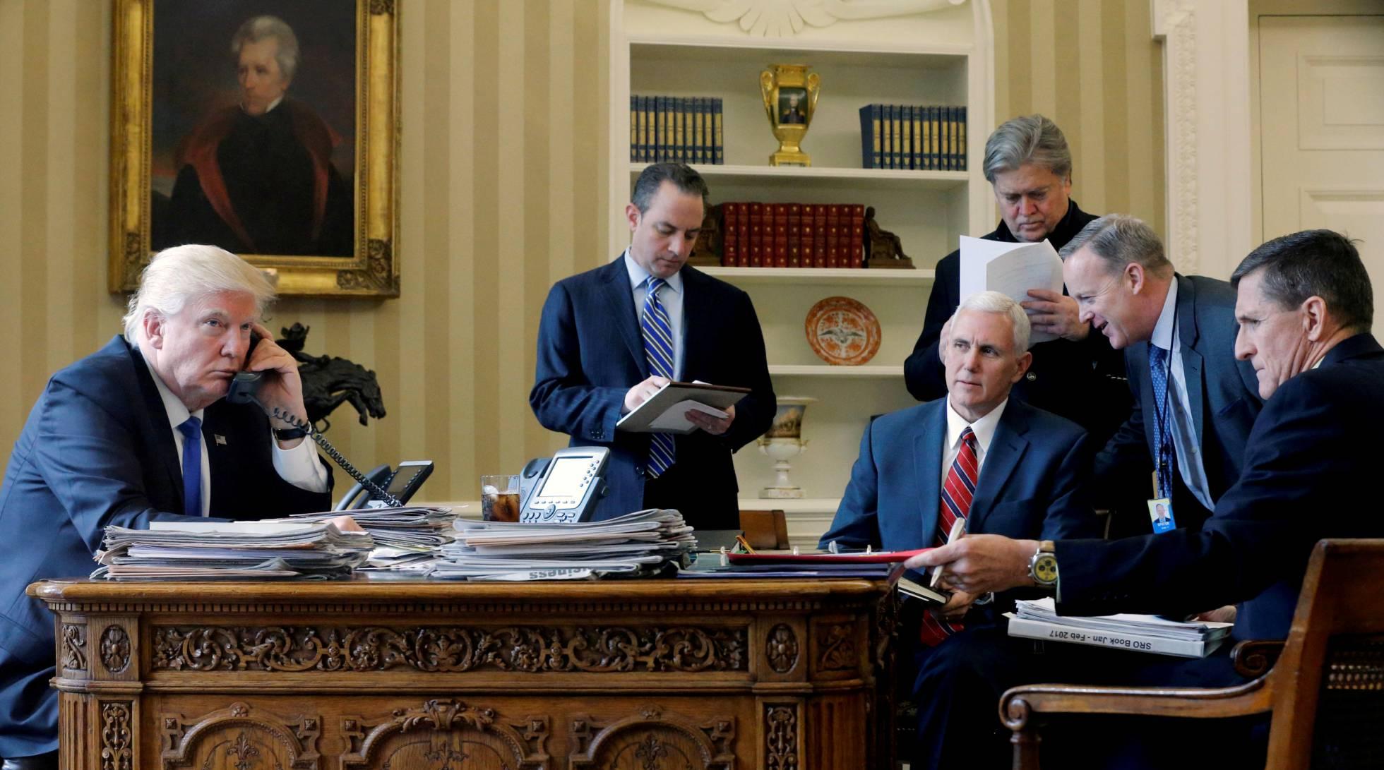 Donald Trump, en el despacho Oval de La Casa Blanca