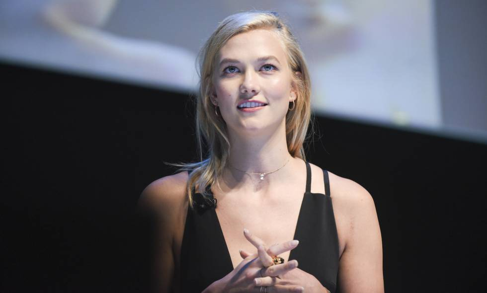 La modelo Karlie Kloss, en su charla en el Cannes Lions Festival 2017 el pasado lunes.