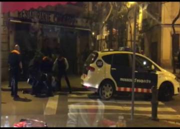 Video: Catalan police take down man wielding large knife in Barcelona