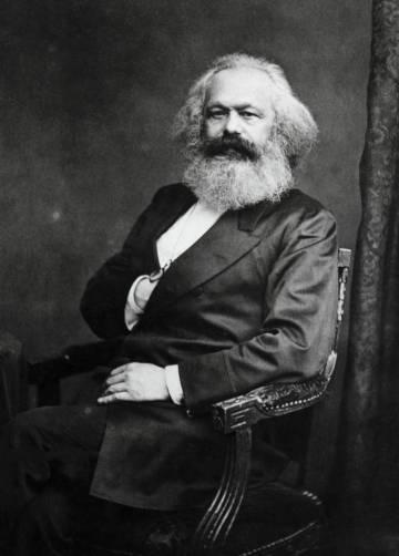 Il filosofo e politico Karl Marx (Trier, 1818-Londra, 1883)