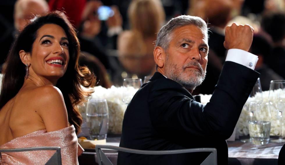George Clooney llora por el mensaje que le dedica su esposa Amal