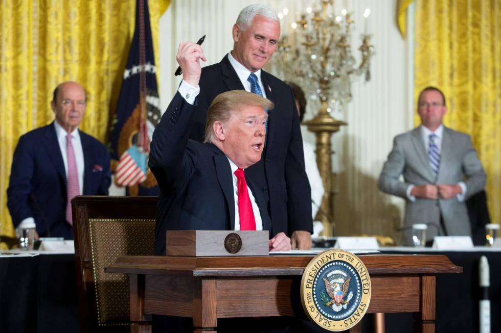 Trump ordena al Pentágono la creación de una fuerza armada espacial