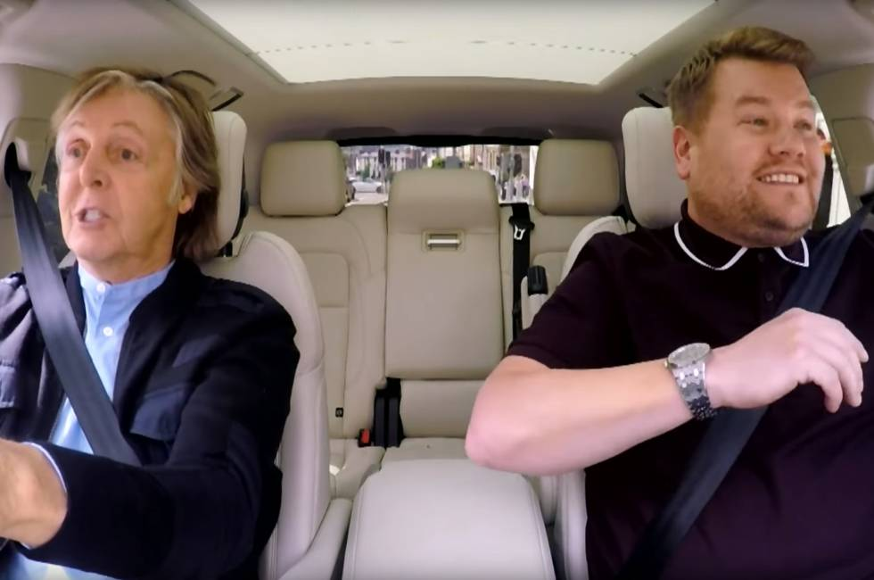 Histórica y emotiva aparición de Paul McCartney en el Carpool Karaoke
