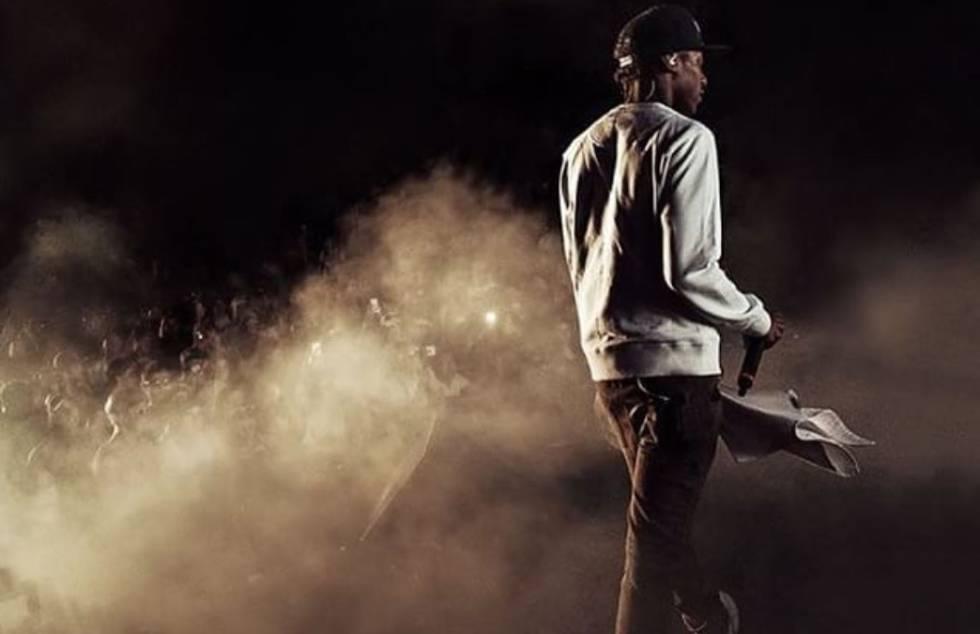 El rapero Smoke durante una actuación en una imagen de Instagram