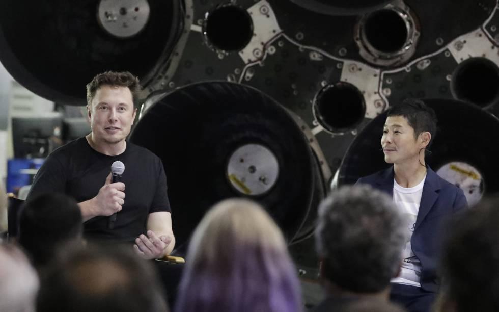 Un millonario japonés será el primer turista lunar de SpaceX