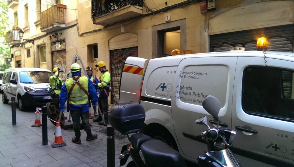 Hexbyte  Hacker News  Computers A team from the Barcelona Public Health Agency going down a manhole.