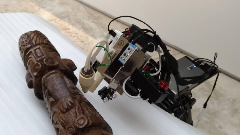 La tecnología utilizada para observar la estatua.