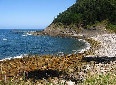 La playa de Lapatza, en Vizcaya.