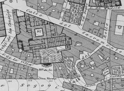 Mapa antiguo de Madrid, 1875