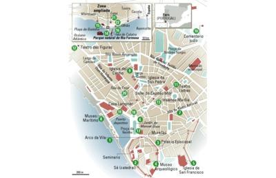 Mapa de Faro.