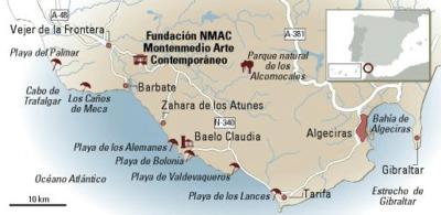 Mapa de Cádiz.