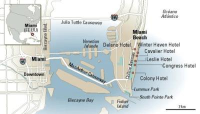 Mapa de Miami.