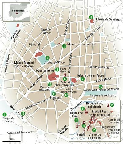 Plano de Ciudad Real.