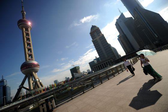 Vista del Foro Económico de Lujiazui, en Shanghái.